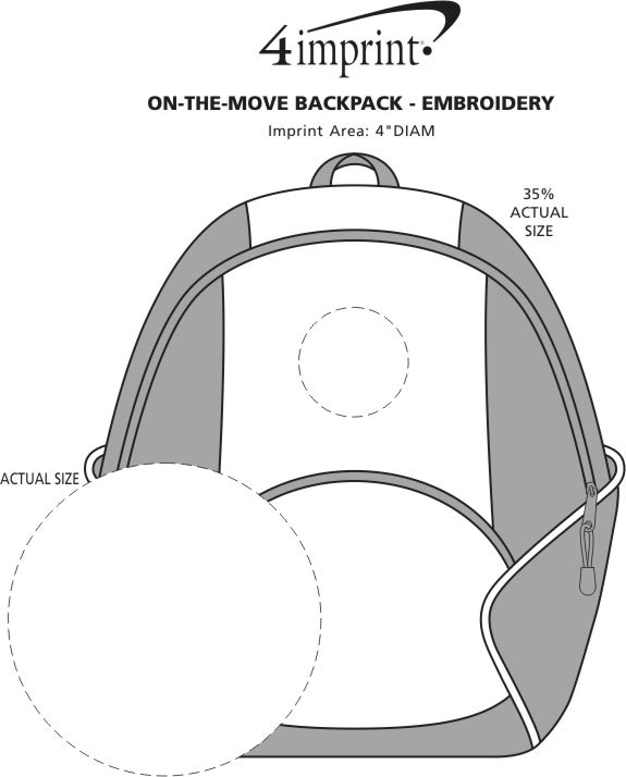 Imprint Area of On-the-Move Backpack - Embroidered
