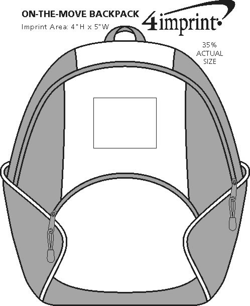 Imprint Area of On-the-Move Backpack