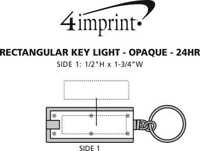 Imprint Area of Rectangular Key Light - Opaque - 24 hr