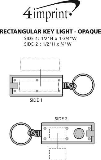 Imprint Area of Rectangular Key Light - Opaque