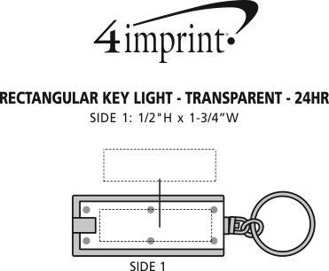 Imprint Area of Rectangular Key Light - Translucent - 24 hr