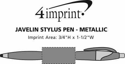 Imprint Area of Javelin Stylus Pen - Metallic