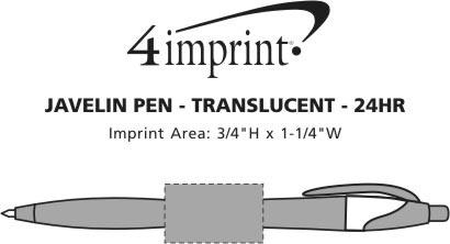 Imprint Area of Javelin Pen - Translucent - 24 hr