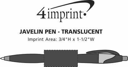 Imprint Area of Javelin Pen - Translucent