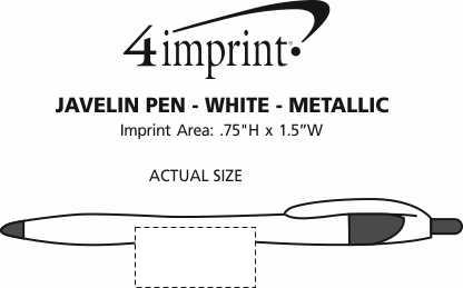 Imprint Area of Javelin Pen - White - Metallic