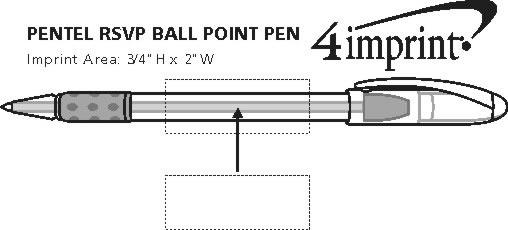 Imprint Area of Pentel RSVP Pen