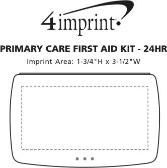 Imprint Area of Primary Care First Aid Kit - Opaque - 24 hr