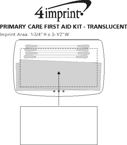 Imprint Area of Primary Care First Aid Kit - Translucent