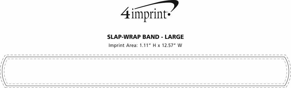 Imprint Area of Reflective Slap-Wrap Band - Large