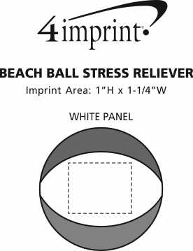 Imprint Area of Beach Ball Stress Ball