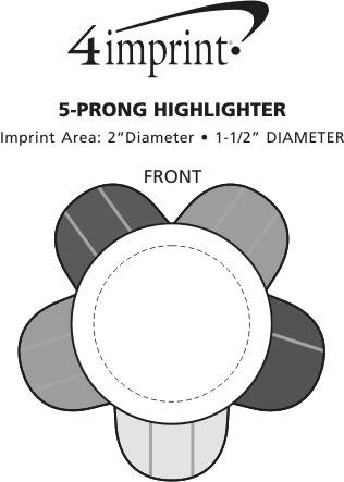 Imprint Area of 5-Prong Highlighter