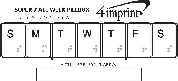 Imprint Area of Super-7 All Week Pillbox