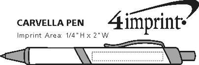 Imprint Area of Carvella Metal Pen