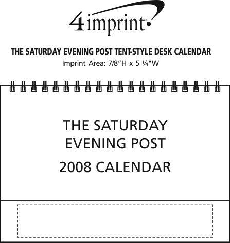Imprint Area of The Saturday Evening Post Tent-Style Desk Calendar