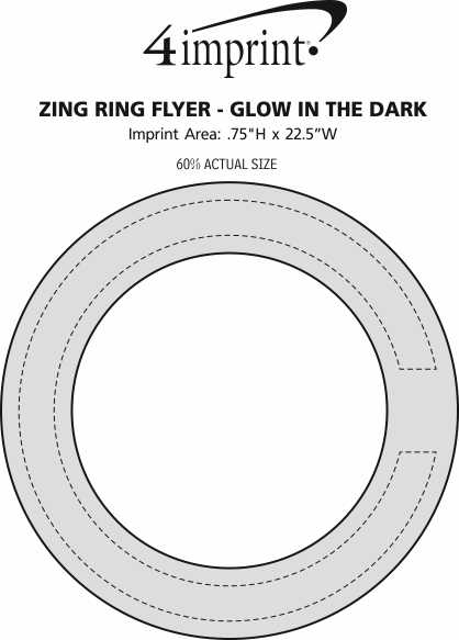 Imprint Area of Zing Ring Flyer- Glow in the Dark