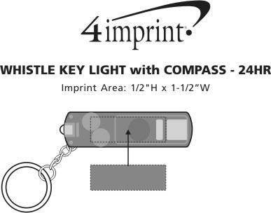 Imprint Area of Whistle Key Light - 24 hr