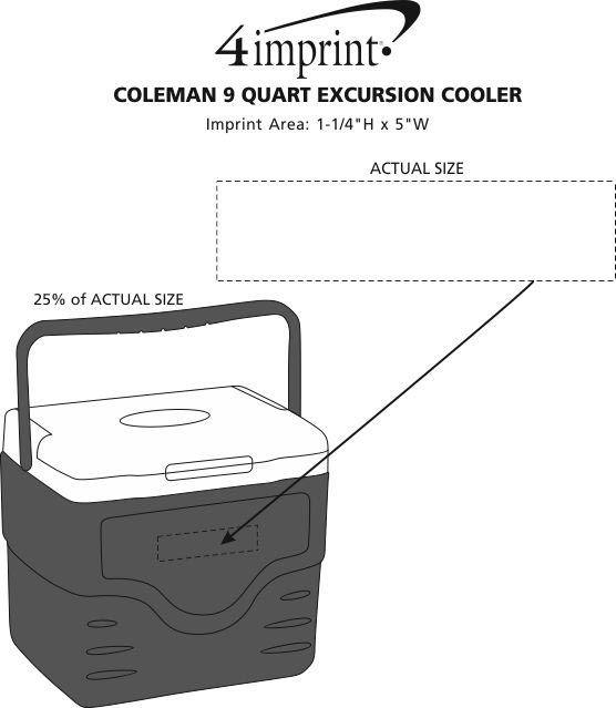 Imprint Area of Coleman 9-Quart Excursion Cooler