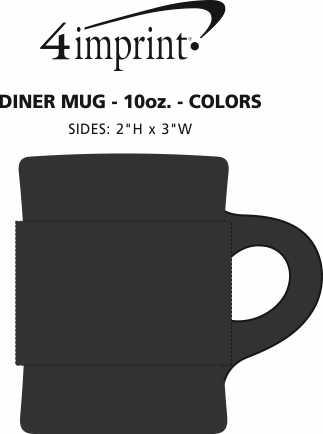 Imprint Area of Diner Mug - 10 oz. - Colors