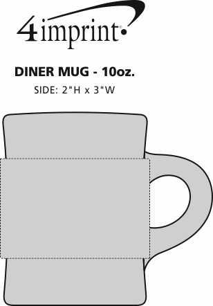 Imprint Area of Diner Mug - 10 oz.