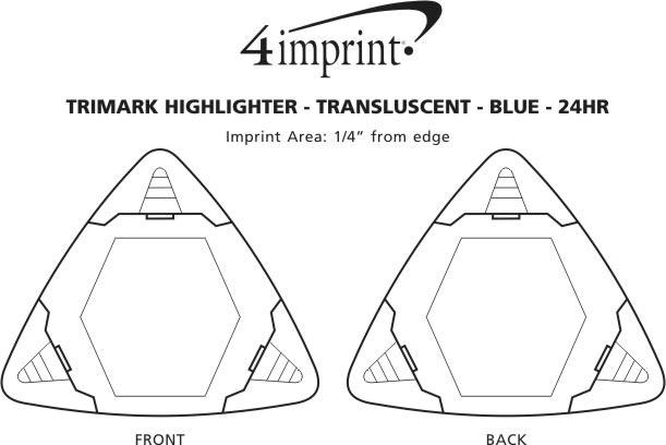 Imprint Area of TriMark Highlighter - Translucent - Blue - 24 hr