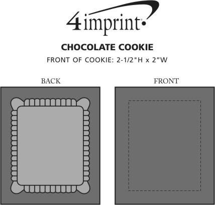 Imprint Area of Chocolate Cookie - Rectangle