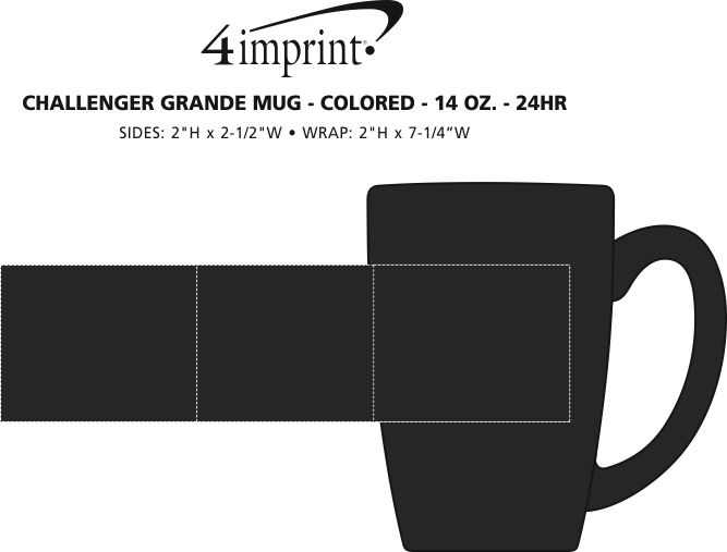 Imprint Area of Challenger Grande Mug - Colors - 14 oz. - 24 hr