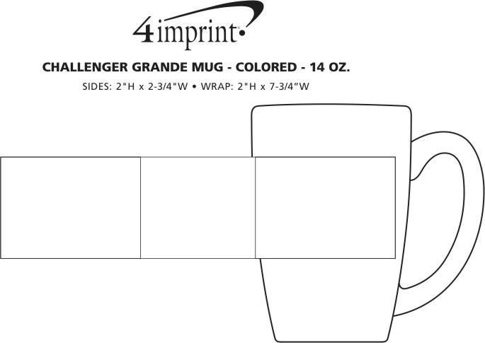 Imprint Area of Challenger Grande Mug - Colors - 14 oz.
