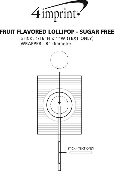 Imprint Area of Fruit Flavored Lollipop - Sugar-Free