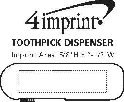 Imprint Area of Toothpick Dispenser