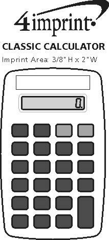 Imprint Area of Classic Calculator - Opaque