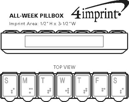 Imprint Area of All-Week Pillbox