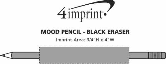 Imprint Area of Mood Pencil - Black Eraser