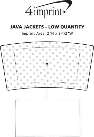 Imprint Area of Java Jacket - Large - Low Qty