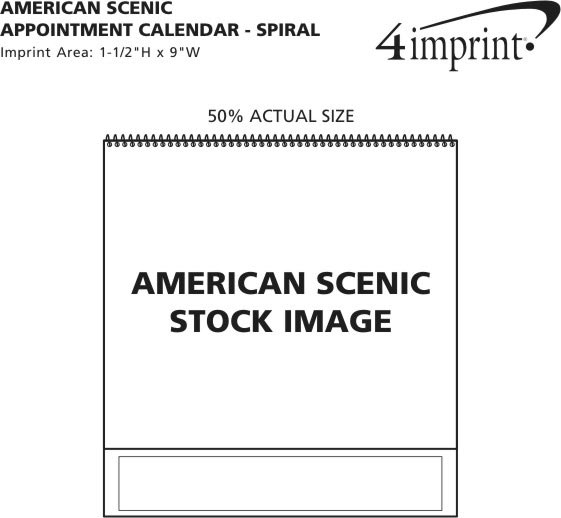 Imprint Area of American Scenic Appointment Calendar - Spiral
