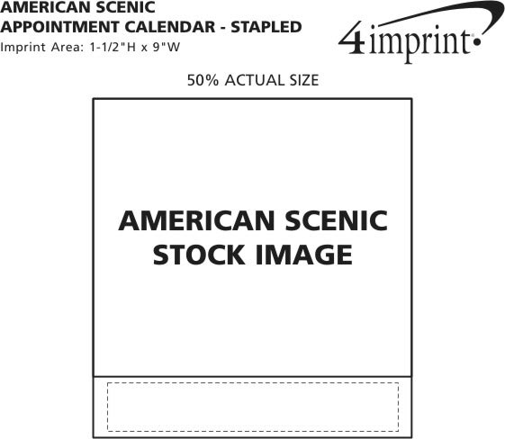 Imprint Area of American Scenic Appointment Calendar - Stapled