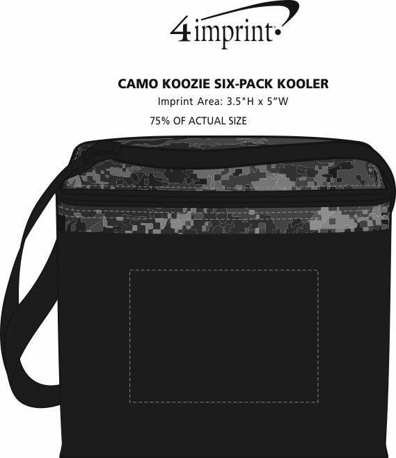 Imprint Area of Camo Koozie® 6-Pack Kooler