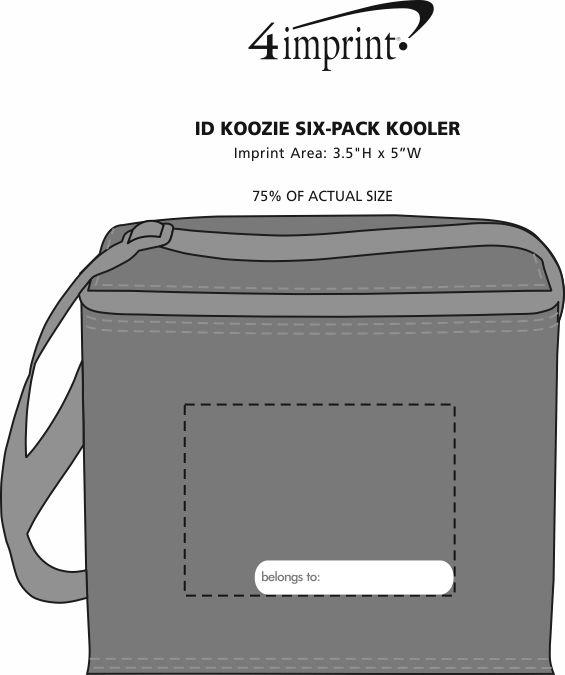 Imprint Area of ID Koozie® 6-Pack Kooler
