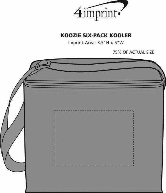 Imprint Area of Koozie® 6-Pack Kooler