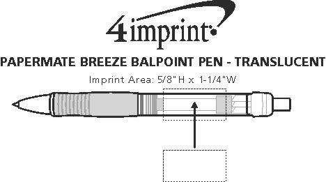 Imprint Area of Paper Mate Breeze Pen - Translucent