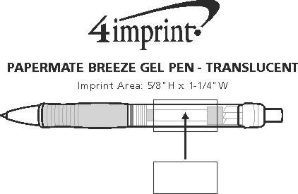Imprint Area of Paper Mate Breeze Gel Pen - Translucent