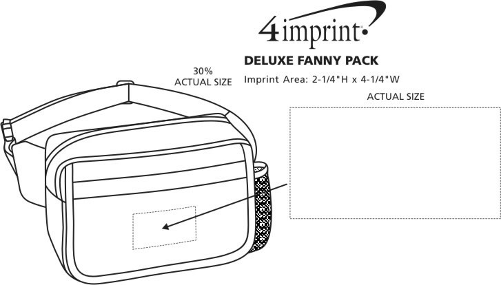 Imprint Area of Deluxe Fanny Pack