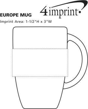 Imprint Area of Europe Coffee Mug - 12 oz.