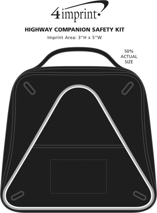 Imprint Area of Highway Companion Safety Kit - 24 hr
