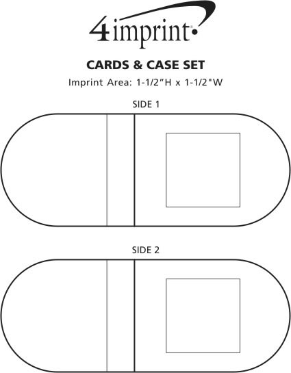 Imprint Area of Playing Cards and Case
