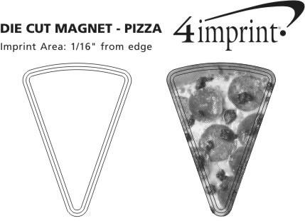 Imprint Area of Bic Die Cut Magnet - Pizza