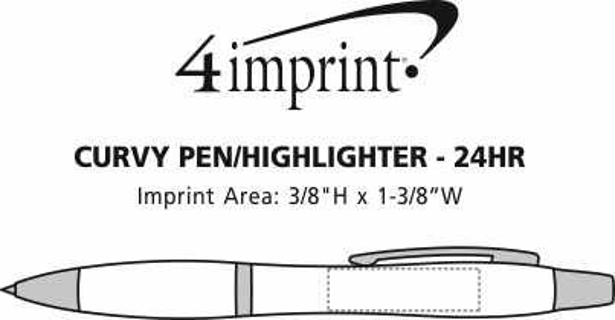 Imprint Area of Curvy Pen/Highlighter - 24 hr