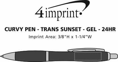 Imprint Area of Curvy Pen - Trans Sunset - Gel - 24 hr