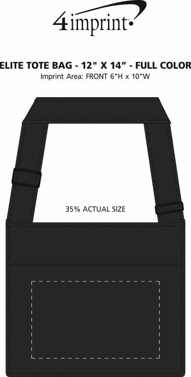 "Imprint Area of Elite Tote Bag - 12"" x 14"" - Full Color"