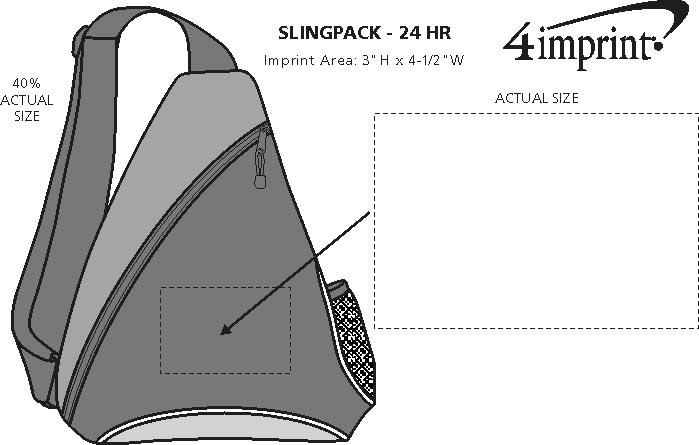 Imprint Area of Slingpack - 24 hr