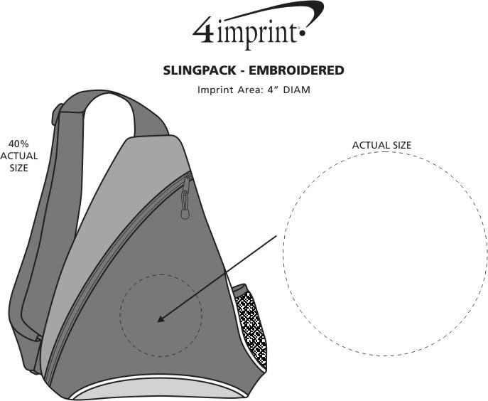 Imprint Area of Slingpack - Embroidered